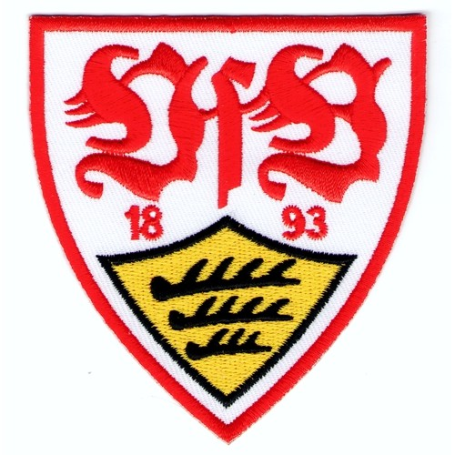 Fußball Aufnäher VFB Stuttgart 1893 8x8,6cm