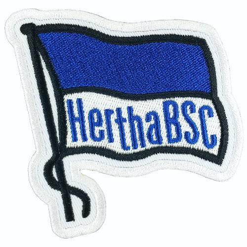 Fußball Aufnäher Hertha BSC Fahne 8x8cm