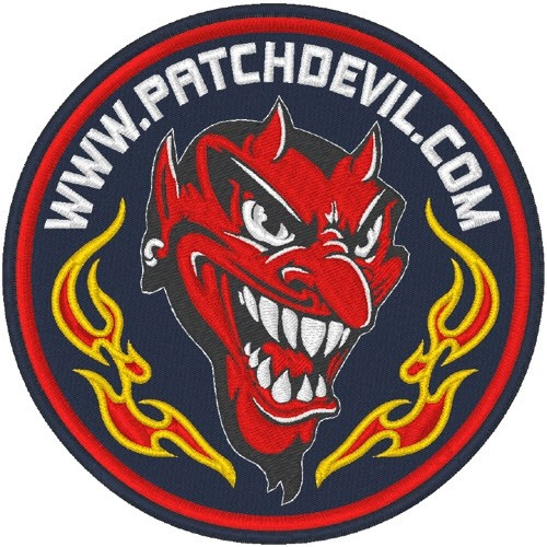 EMBROIDERED PATCH PATCHDEVIL D=10