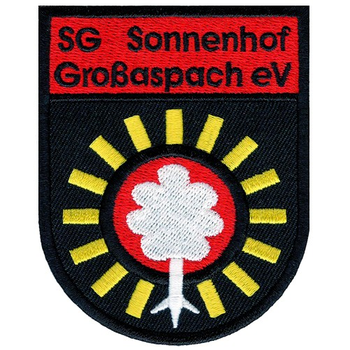Fußball Aufnäher SG Sonnenhof Großaspach 6x8cm