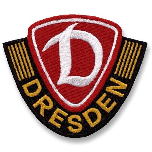 Fußball Aufnäher Dynamo Dresden 100% gestickt 7,5x6,4cm