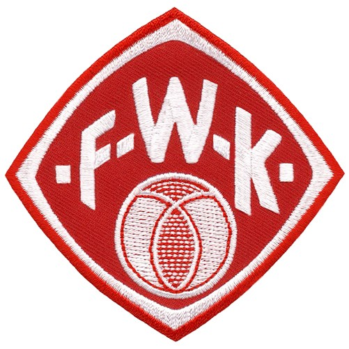 Würzburger Kickers AUFNÄHER Fussball PATCH Fußball 8x8cm
