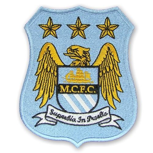 Manchester City Aufnäher Fußball Patch Premier League 8,5x10cm