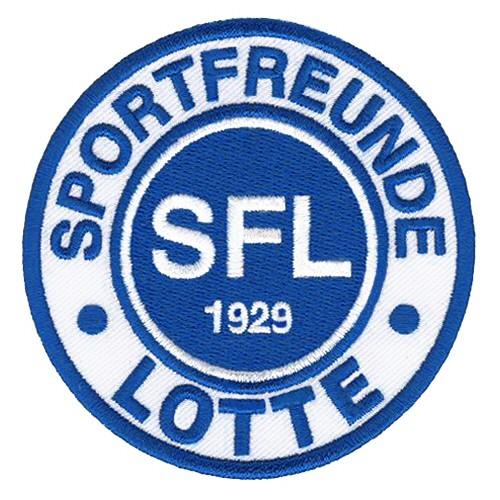 Fußball Sportfreunde LOTTE 1929 FUSSBALL FAN AUFNÄHER D=8cm
