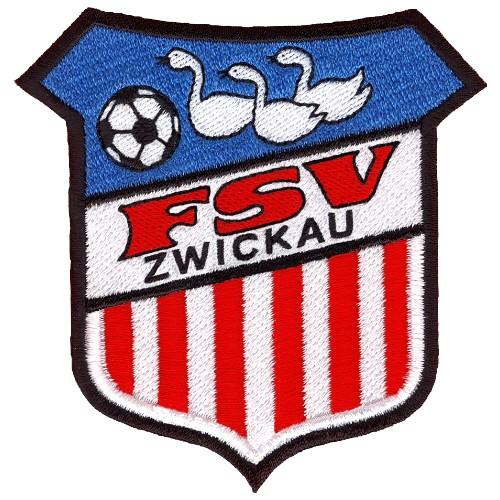 Fußball Aufnäher FSV Zwickau FAN  100% gestickt 7,8x8cm