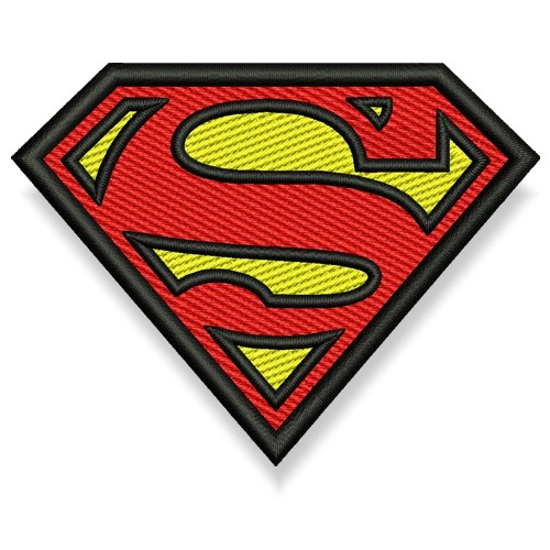 Superman AUFNÄHER PATCH Superheld Hero 8x6cm