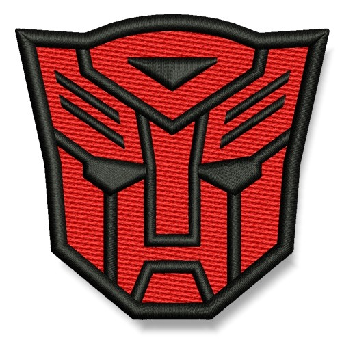 Transformer AUFNÄHER rot/schwarz PATCH Science-Fiction Superheld Hero 7x6,5cm