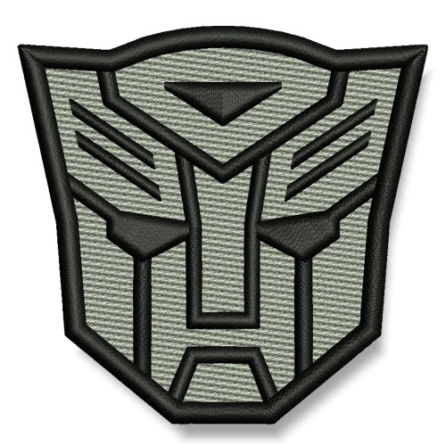 Transformer AUFNÄHER grau/schwarz PATCH Science-Fiction Superheld Hero 7x6,5cm
