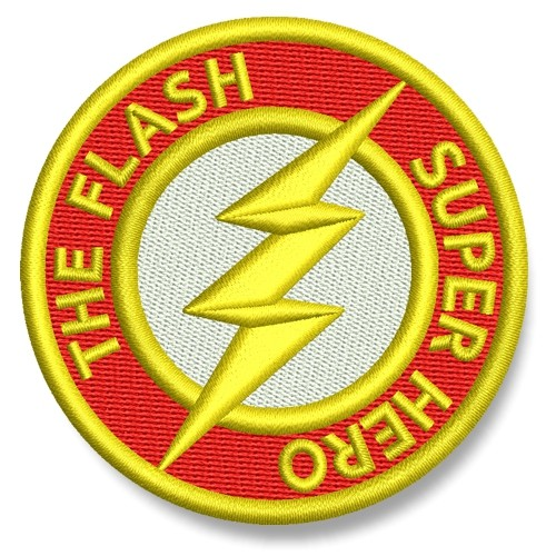 The Flash AUFNÄHER PATCH Kinder Superheld Hero D=6,5cm