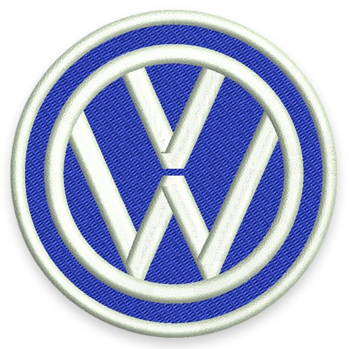 VW AUFNÄHER PATCH VOLKSWAGEN D=8cm
