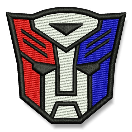 Transformer AUFNÄHER 4-farbig PATCH Science-Fiction Superheld Hero 7x6,5cm
