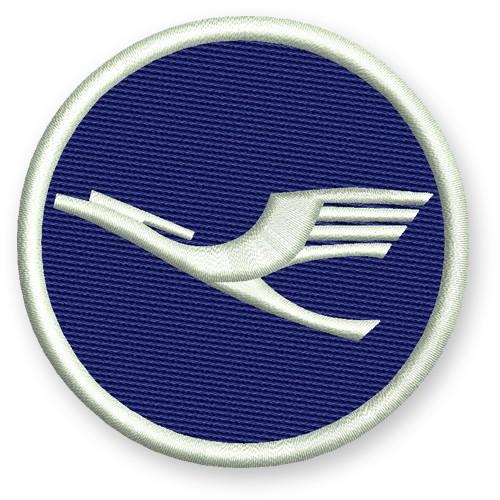 Lufthansa Aufnäher Patch Airline 100% gest. D=7cm