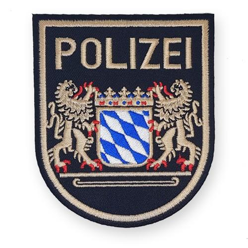 Aufnäher POLIZEI für Uniform Bayern 8,5x10cm