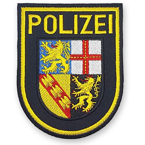 Aufnäher POLIZEI für Uniform Saarland 8,5x10cm