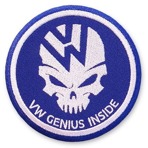 VW Aufnäher Volkswagen GENIUS INSIDE D=8cm