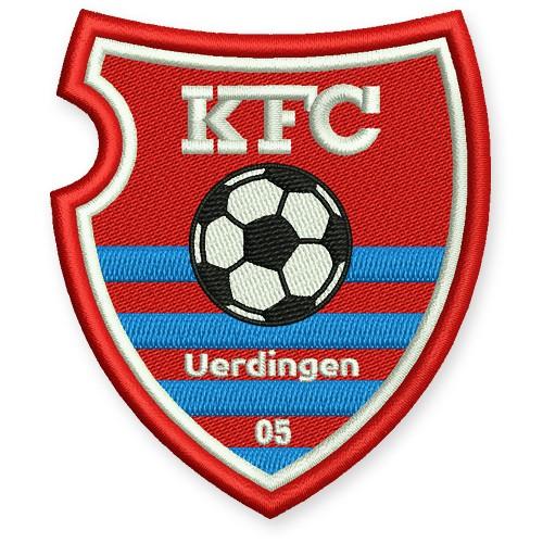 Fußball Aufnäher KFC Uerdingen 05 Krefelder Fußball-Club 7x8cm