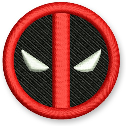 Deadpool Aufnäher Patch Science-Fiction Superheld Hero D=5cm