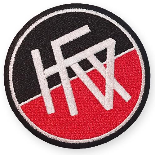 Fußball Aufnäher Karlsruher FV Fußball-Club 100% gestickt D=8cm