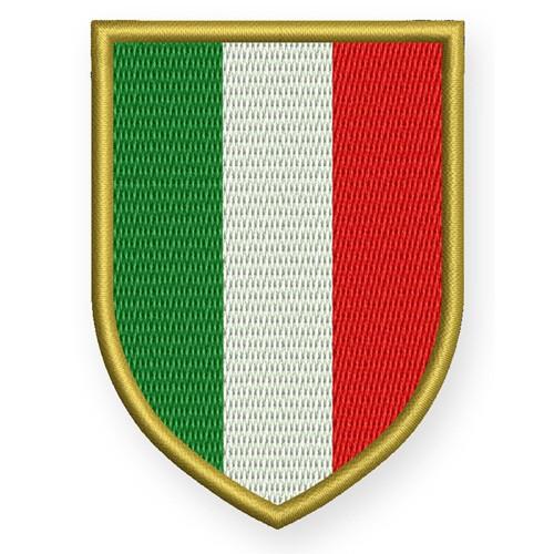 ITALIEN WAPPEN PATCH AUFNÄHER 6x8cm