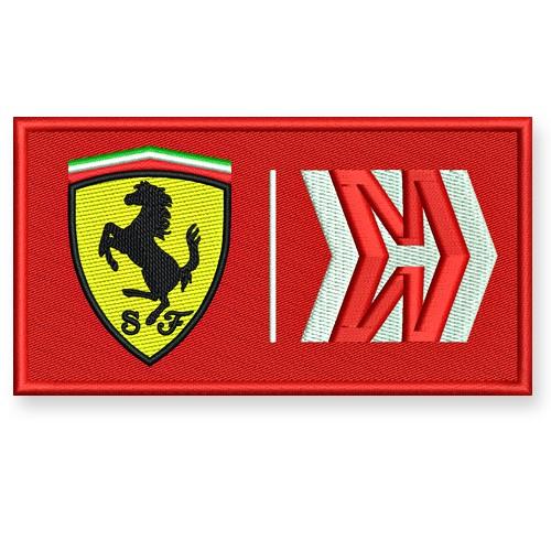 Der neue F1 Uniform Ferrari/Mission Winnow Aufnäher 12x6,5cm