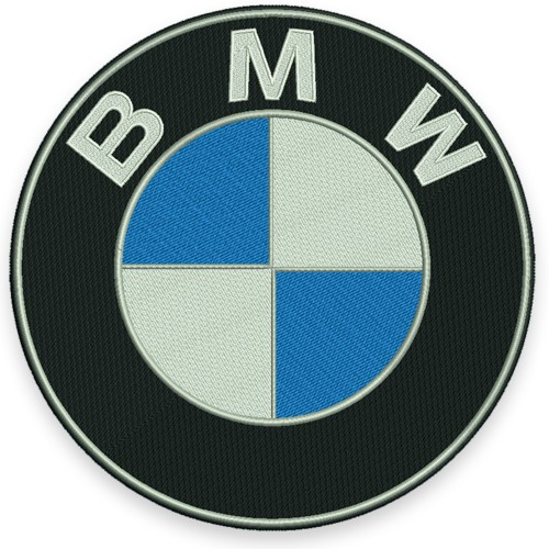 AUFNÄHER PATCH Stoffabzeichen BMW D=25cm