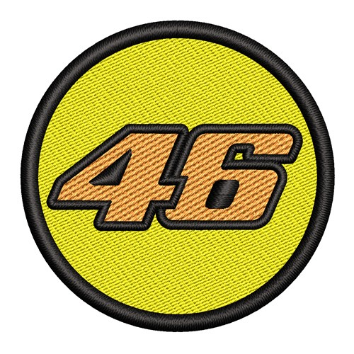 RACING FAN PATCH AUFNÄHER 46 VALENTINO ROSSI D=5cm