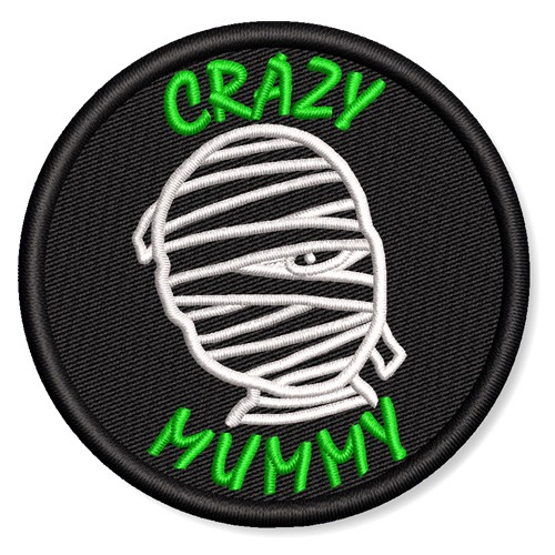 AUFNÄHER PATCH CRAZY MUMMY D=6,5cm