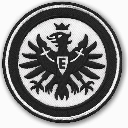 Fußball Aufnäher EINTRACHT FRANKFURT schwarz weiß D=8cm