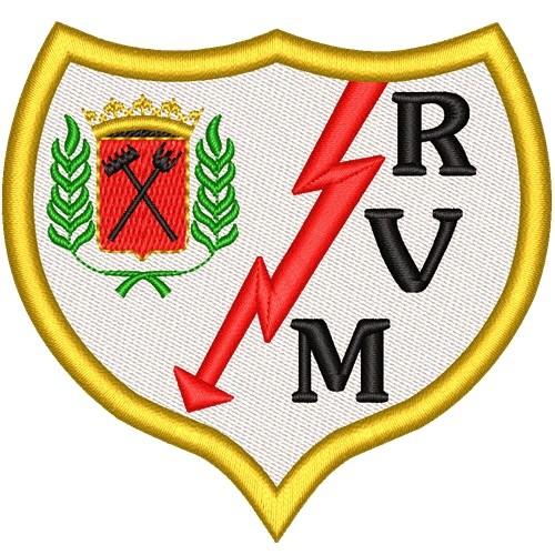 Fußball Aufnäher Rayo Vallecano 8x7,6cm