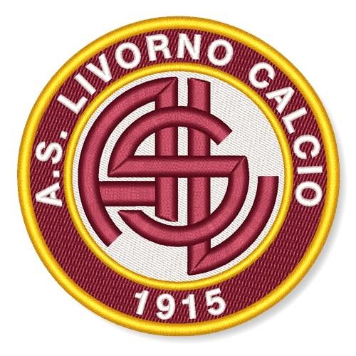 Fußball Aufnäher AS Livorno D=8cm