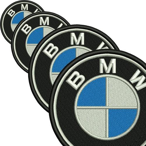 Aufnäher Patch Stoffabzeichen BMW in verschiedenen Größen D=6-25cm