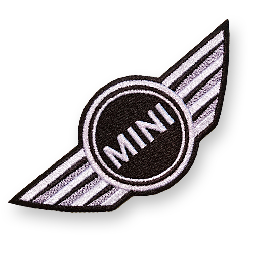 Classic Mini Rover John Cooper S Car 9cm patch Embroidered Sew or Iron on Badge