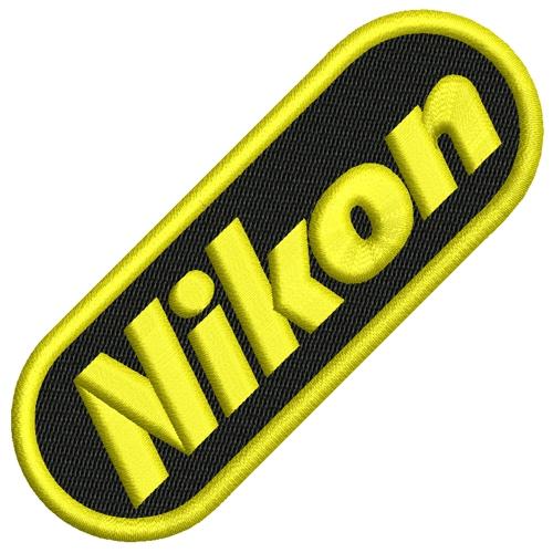 EMBROIDERY PATCH NIKON 9,5X3,5CM (3 7X1 4 inch)