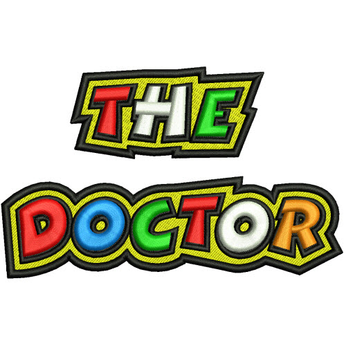 AUFNÄHER VALENTINO ROSSI THE DOCTOR Valentino Rossi The Doctor Font