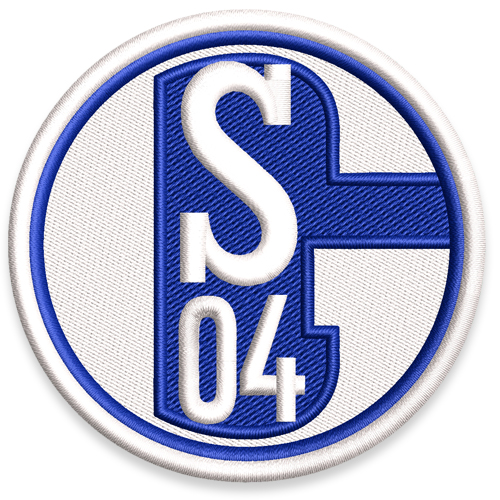 fu ball fussball aufn her patch schalke 04 d 8cm. Black Bedroom Furniture Sets. Home Design Ideas