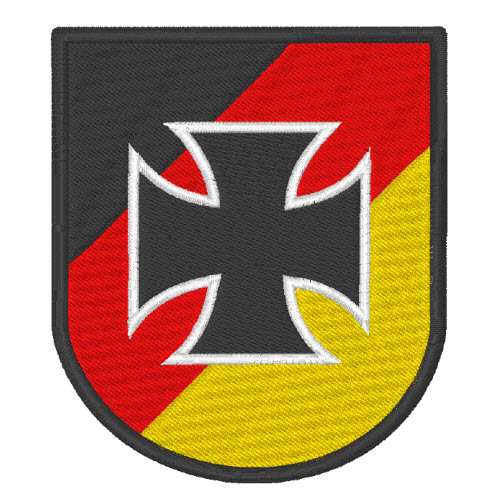 deutschland wappen eisernes kreuz patch aufn her 7x8cm. Black Bedroom Furniture Sets. Home Design Ideas