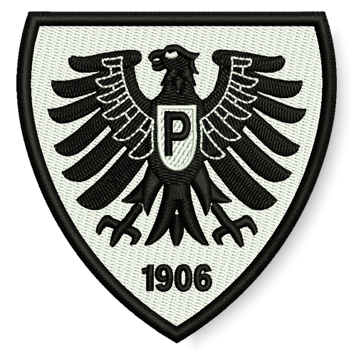 Preuen Muenster Germany Soccer Embroidered Patch 299x315 Inch