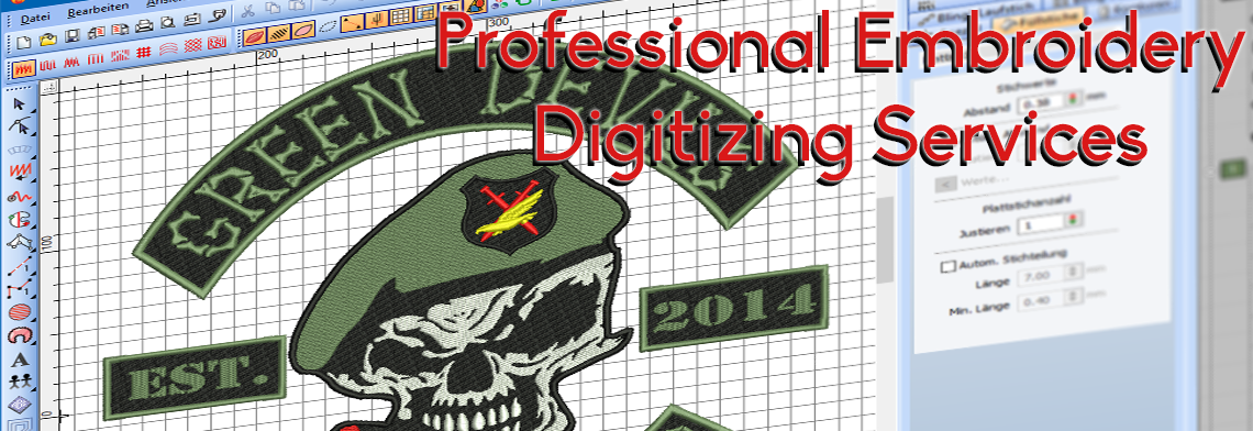 professional digitizing for embroidery