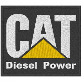AUFNÄHER PATCH CAT DIESEL POWER 8x7cm