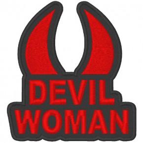 AUFNÄHER PATCH DEVIL WOMAN 10x10cm