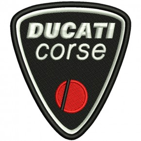 AUFNÄHER PATCH DUCATI racing 7,5x8cm