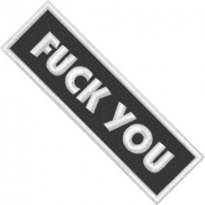 AUFNÄHER PATCH FUCK YOU 10x3cm