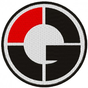 AUFNÄHER PATCH 50 CENT G-UNIT D=8cm