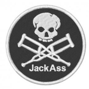 AUFNÄHER PATCH Jack Ass D=8cm