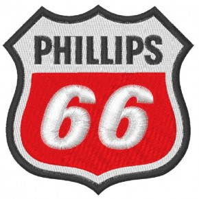 AUFNÄHER PATCH PHILLIPS 66 racing 9x9cm