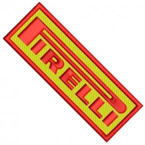 AUFNÄHER PATCH PIRELLI racing 10x3,5cm