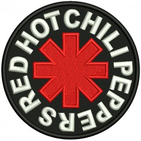 AUFNÄHER Red Hot Chili Peppers D=10cm