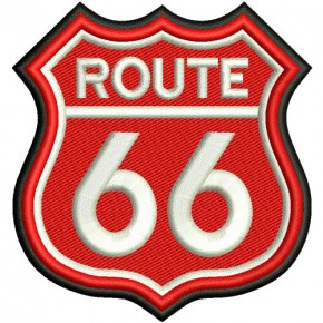 BIKER FAN AUFNÄHER PATCH ROUTE 66 8x8,5cm