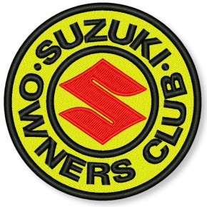 AUFNÄHER PATCH SUZUKI OWNERS CLUB D=8cm