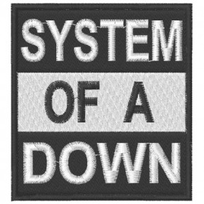 AUFNÄHER PATCH SYSTEM OF A DOWN 7x7,5cm